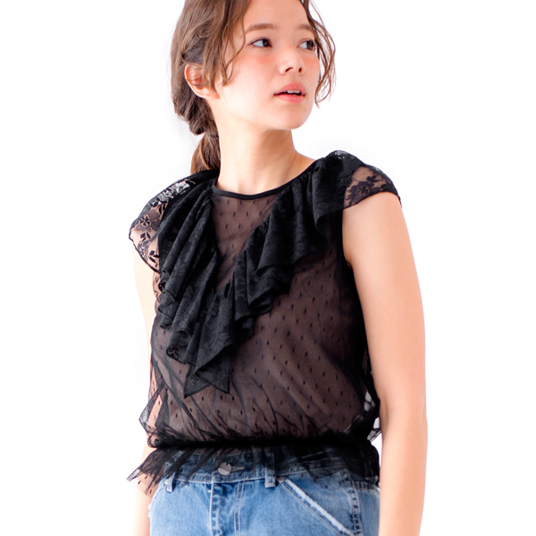 【50%OFF】lace chip blouse〜レースチップブラウス