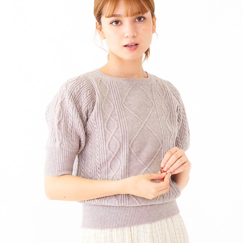 【30%OFF】compact cable knit 〜コンパクトケーブルニット