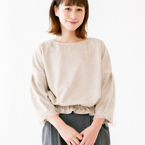 suede tulle tops 〜スウェードチュールトップ