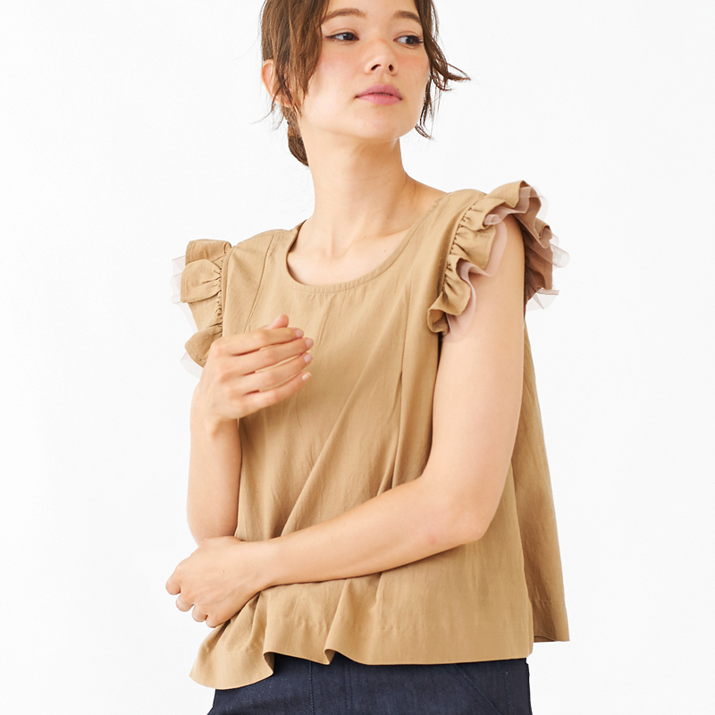 【20%OFF】flap tulle top 〜フラップチュールトップ