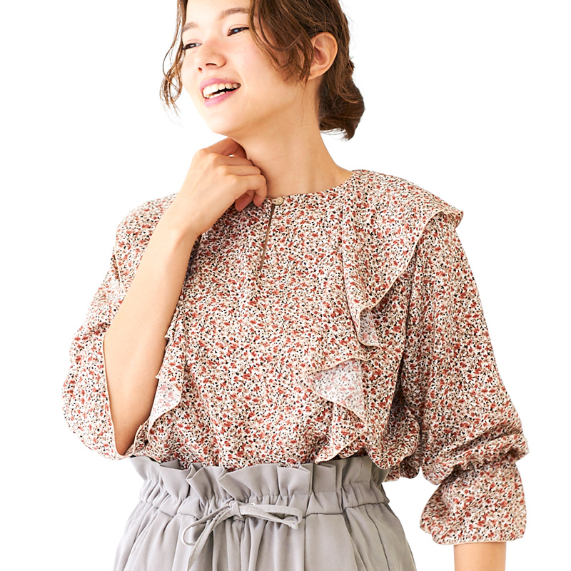【OUTLET】flowering meadow blouse 〜フラワリングメドーブラウス
