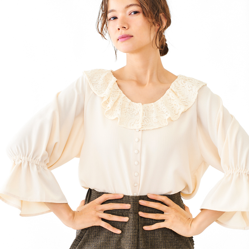 【60%OFF】lace butterfly top 〜レースバタフライトップ