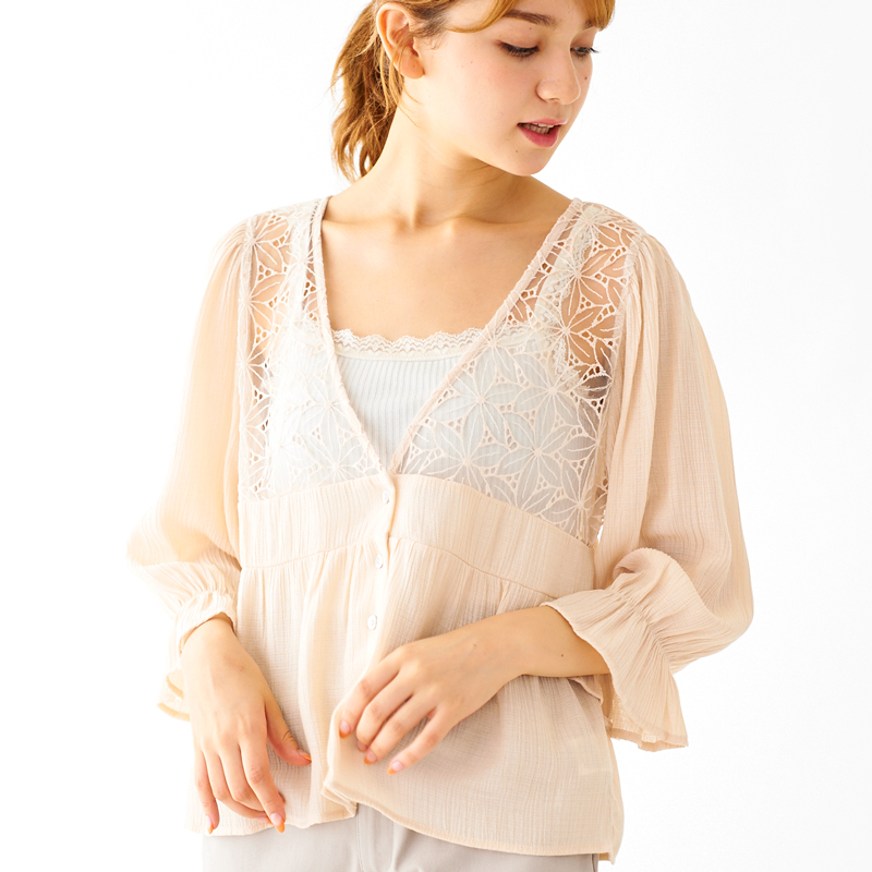 【20%OFF】glass lace blouse 〜グラスレースブラウス