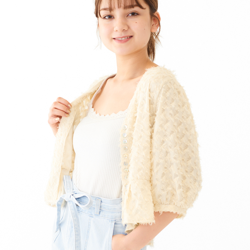 feather fringe top 〜フェザーフリンジトップ
